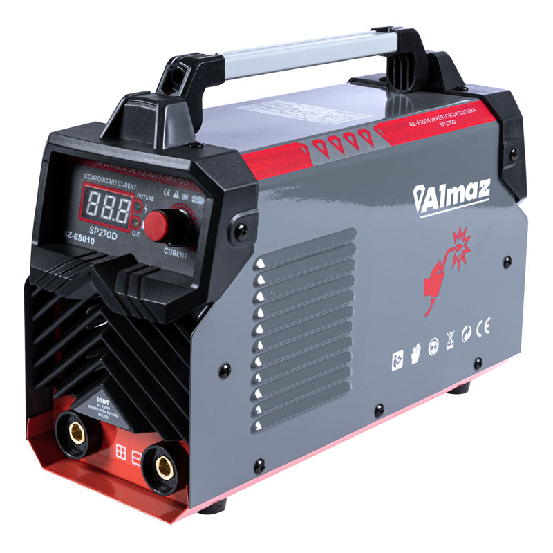 Aparat de sudura tip invertor Almaz, 270 A, electrozi 1.6 - 4 mm, afisaj digital 2021 shopu.ro