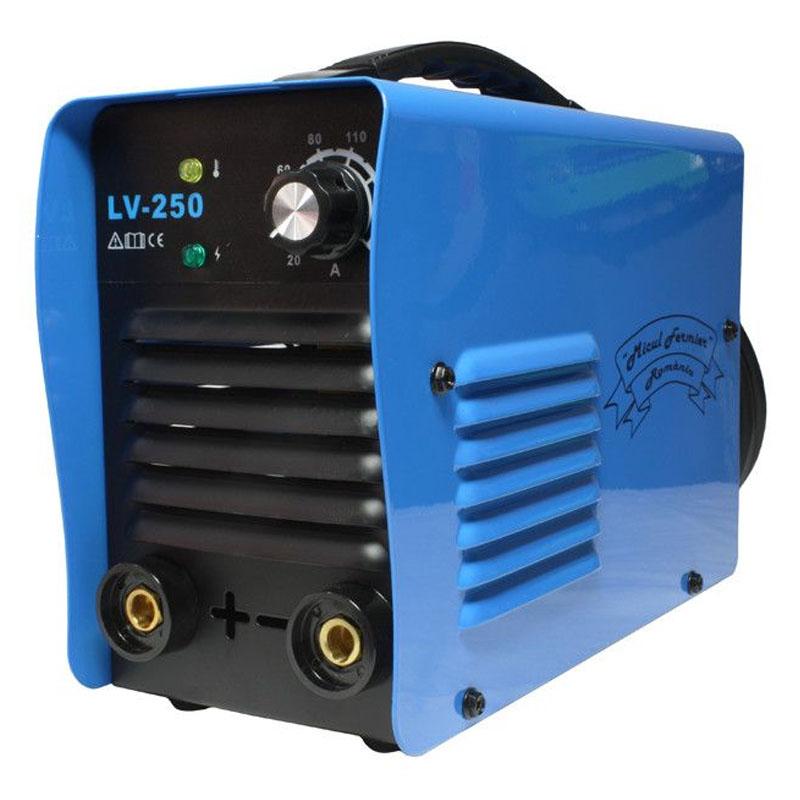 Aparat de sudura tip invertor LV-250 Micul Fermier, 250 A, electrozi 1.6 - 5 mm, IP21F shopu.ro