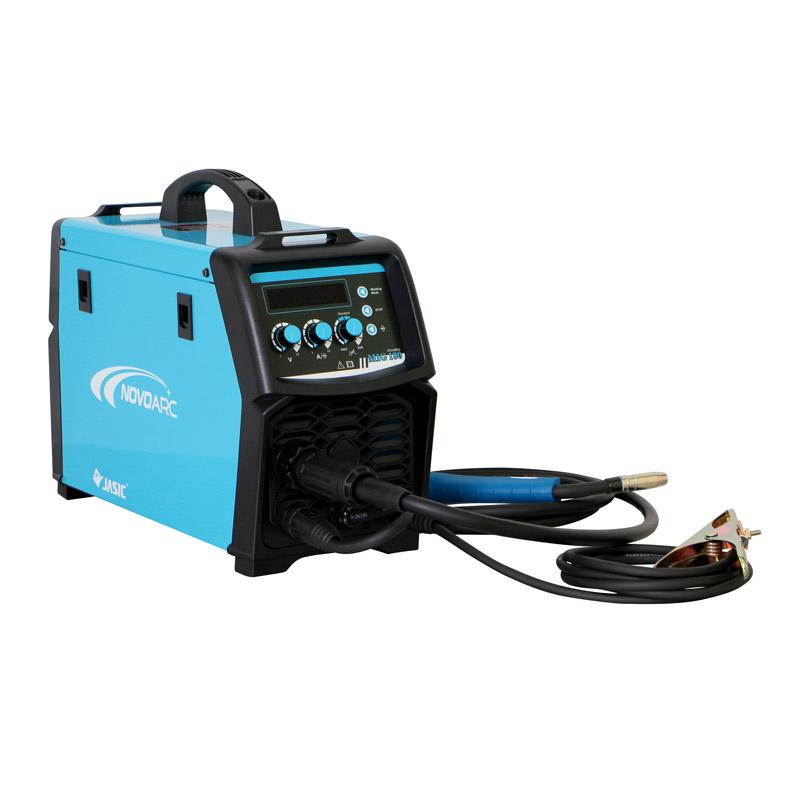 Pachet Aparat de sudura tip invertor MIG/MAG Novo N2A50A, termostat, electrod 0.6-1.0 mm + Butelie pentru corgon, 10 litri + Reductor presiune AR/CO2, 200 bar, 2 manometre + Sarma sudura SG2, diametru 0.8 mm shopu.ro