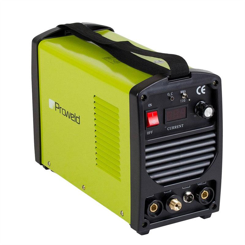 Aparat de sudura tip invertor ProWeld HP-180L, 180 A, 6.2 kVA, monofazat, MMA, TIG, masca de mana inclusa shopu.ro
