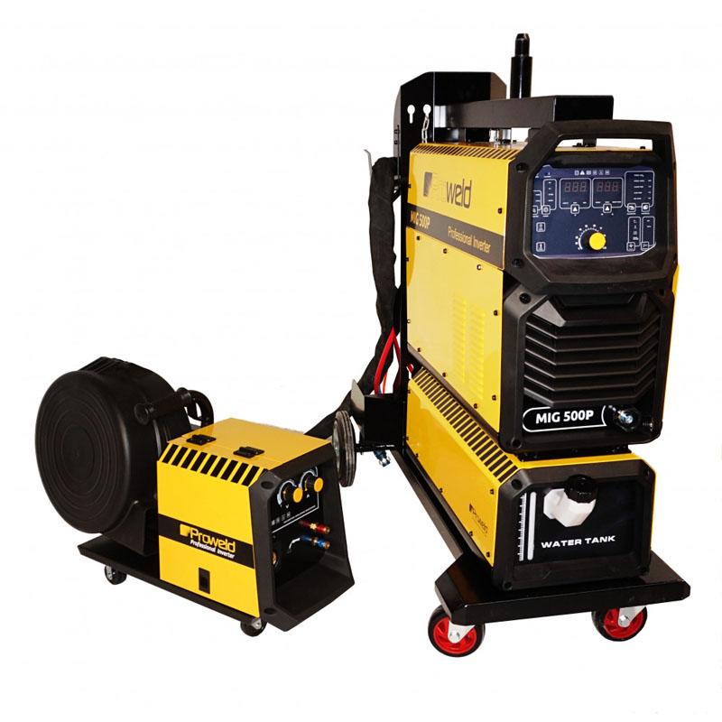 Aparat de sudura tip invertor ProWeld MIG-500P, 500 A, 25.3 kVA, trifazat, sarma 0.8 - 1.6 mm, racire cu apa