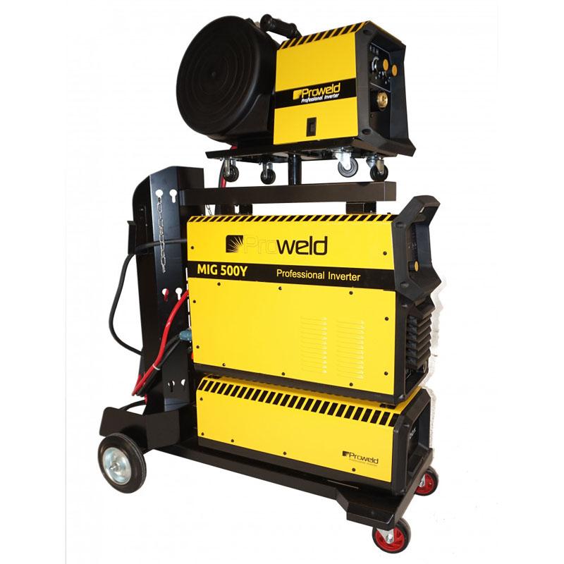 Aparat de sudura tip invertor ProWeld MIG-500Y, 500 A, 50 Hz, 25.3 kVA, trifazat, IP 21, derulator detasabil shopu.ro