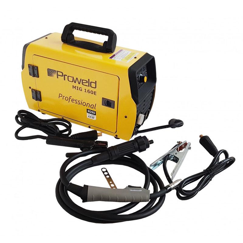 Aparat de sudura tip invertor ProWeld MIG160E, 160 A, 7.3 kVA, MIG, TIG, MMA, IP 21S 2021 shopu.ro