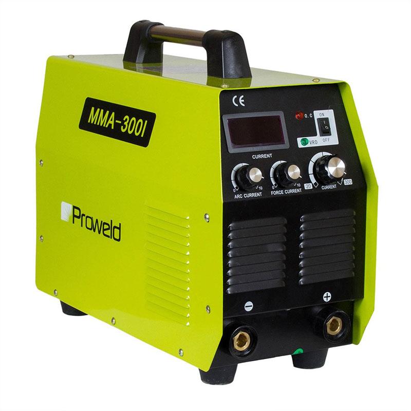 Aparat de sudura tip invertor ProWeld MMA-300I, 300 A, 400 V, 8.7 kVA, trifazat, arc/force current, masca de mana inclusa