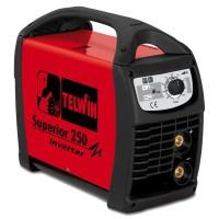 Aparat de sudura tip invertor Telwin Superior 250, 250 A, 8.2 kW, MMA, TIG, electrozi 1.6 - 5 mm, IP 23