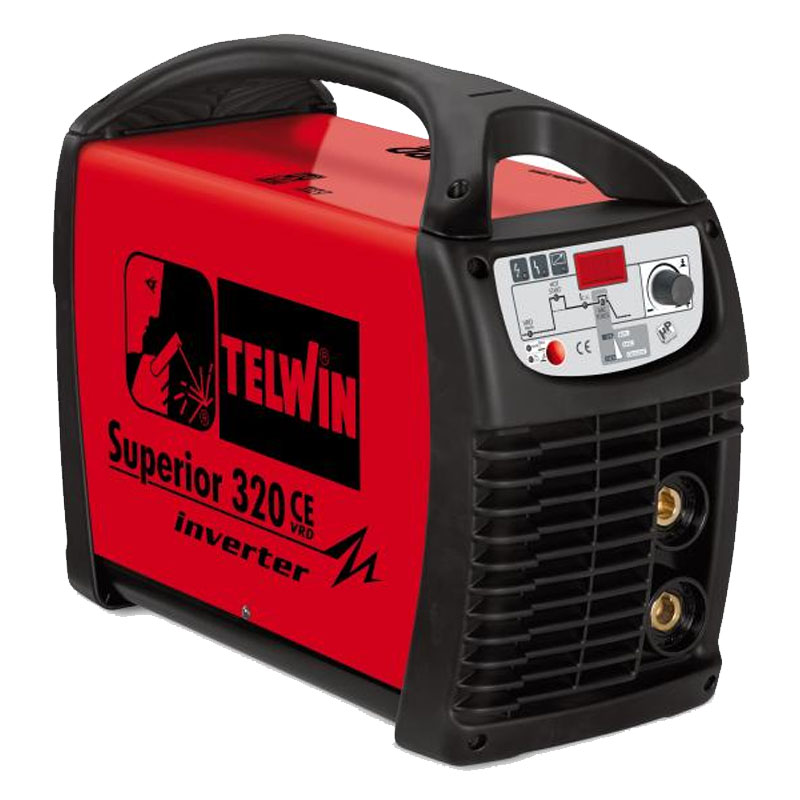Aparat de sudura tip invertor Telwin Superior 320 CE VRD, 270 A, 9 kW, electrozi 1.6 - 6 mm, IP 23, racire fortata 2021 shopu.ro