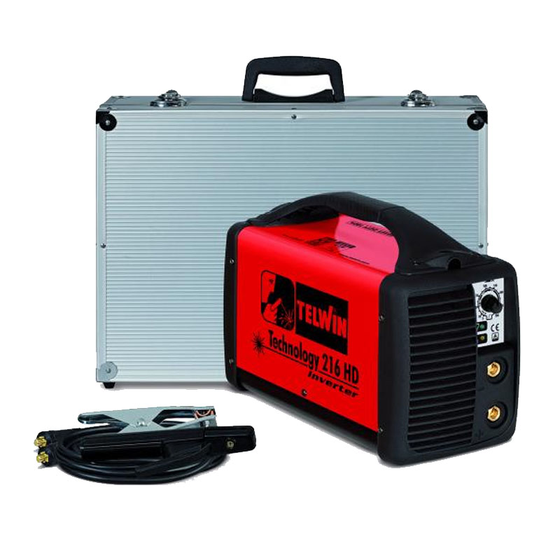 Aparat de sudura tip invertor Telwin Technology 216 HD, 180 A, 5.5 kW, electrozi 1.6 - 4 mm, IP 23, protectie termica
