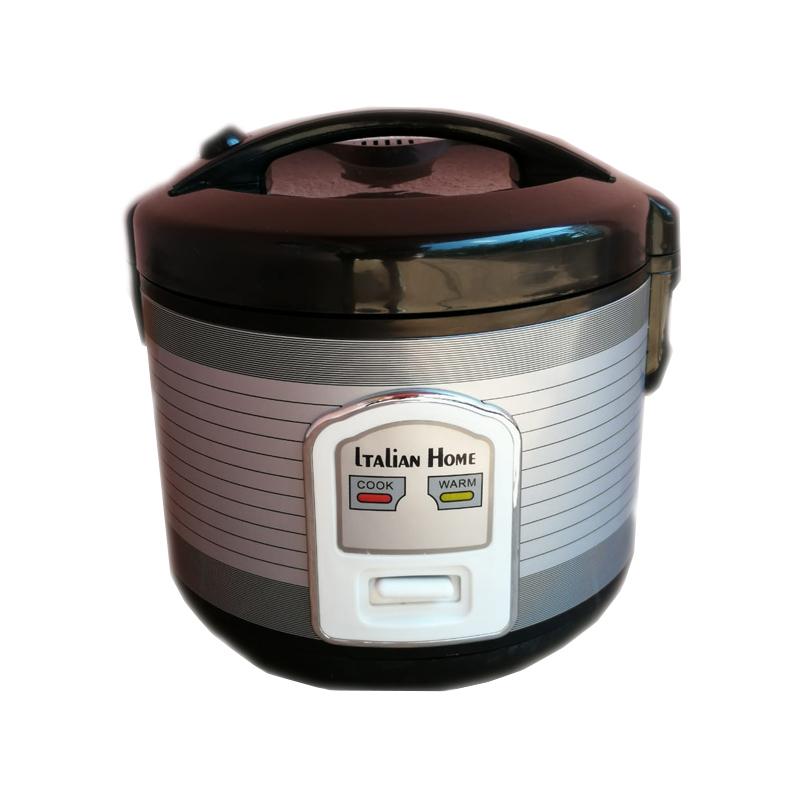 Aparat electric pentru orez Italian Home, 500 W, 3 l, Negru/Argintiu 2021 shopu.ro