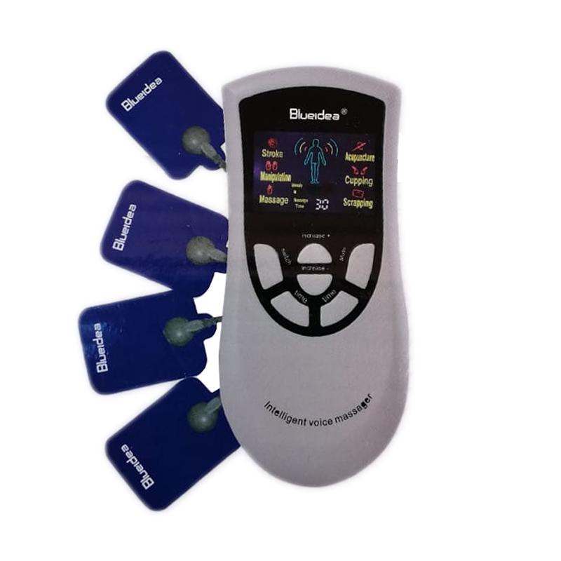 Aparat electrostimulare Blueidea Deluxe Massager, LCD, 4 electrozi 2021 shopu.ro