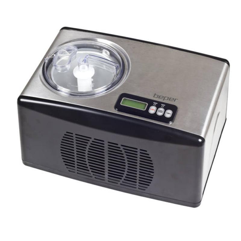 Aparat pentru preparare inghetata Beper, 150 W, 1.5 l, ecran LCD, control touch