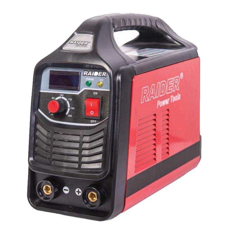Aparat pentru sudura tip invertor Raider, 7.8 kVA, 20/200 A, electrozi 1.6 - 4 mm