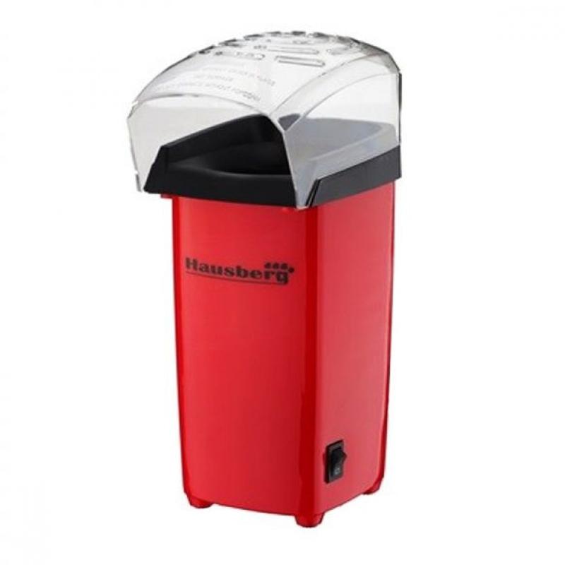 Aparat popcorn Hausberg, 1200 W, Rosu