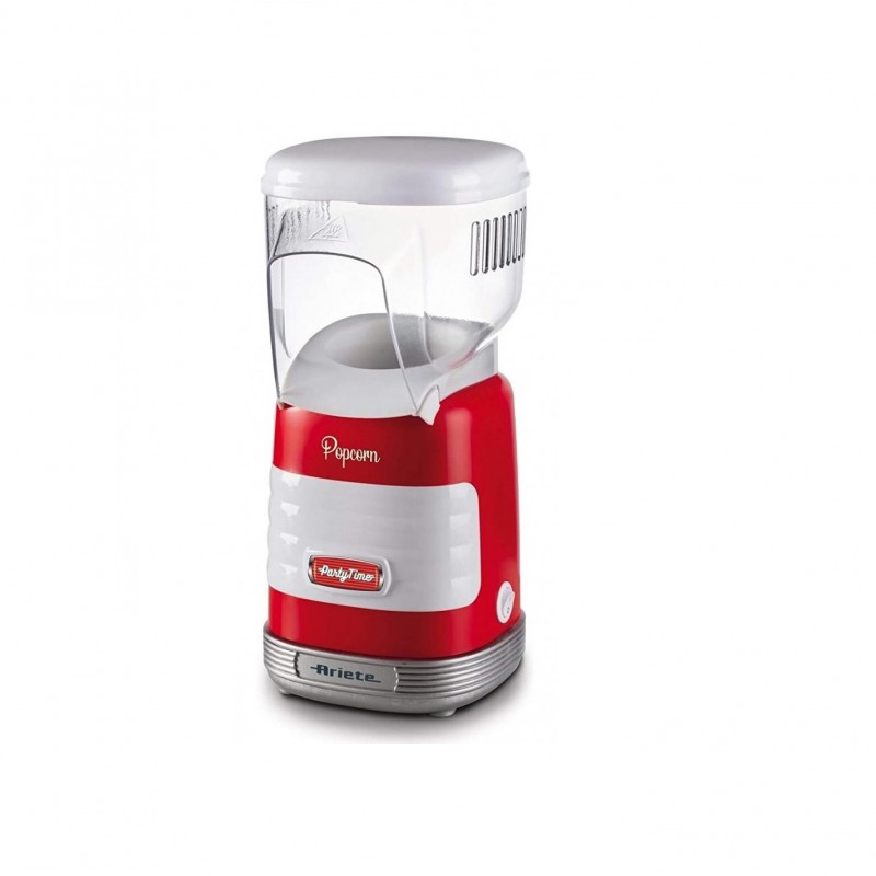 Aparat popcorn Party Time Ariete, 1100W, 60 g, protectie supraincalzire, indicator luminos, Rosu 2021 shopu.ro