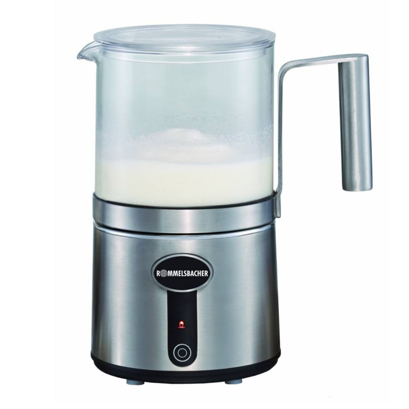 Aparat spumare lapte Rommelsbacher, 600 W, 300 ml, 6 functii, cana sticla 2021 shopu.ro