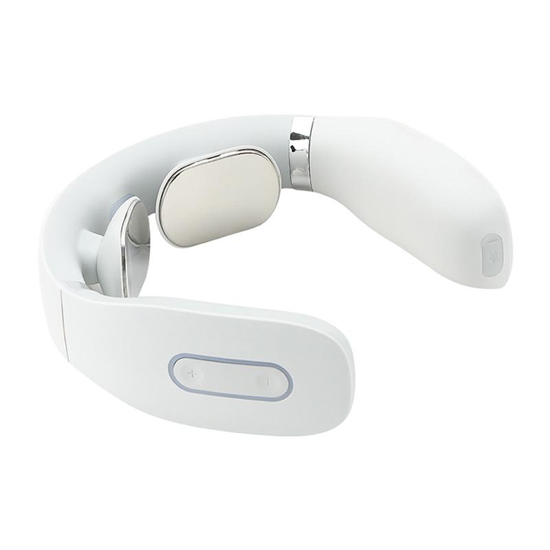Aparat de masaj pentru gat Lila Care, 2 W, 1000 mAh, ABS/silicon/PC, infrarosu, cablu USB inclus, Alb 2021 shopu.ro