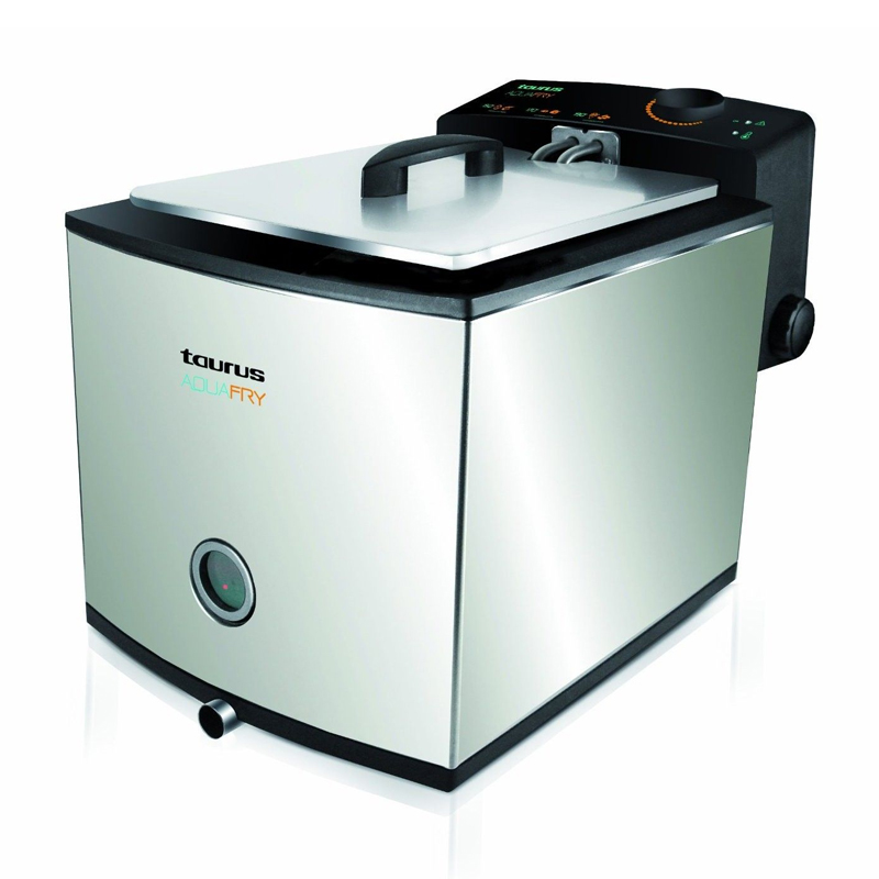 Friteuza Aquafry Taurus, 4.5 l, 2000 W, LED, termostat reglabil, Inox 2021 shopu.ro