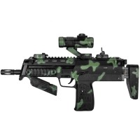 Arma de jucarie MP7A1 cu baterii si sunete realiste, 2 x AA