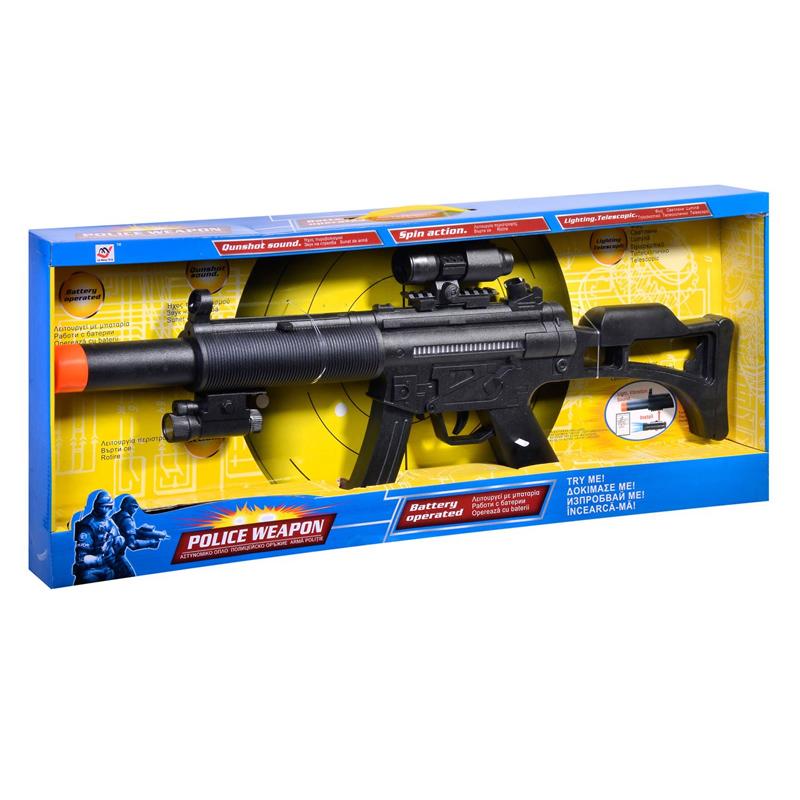Arma de jucarie Police Weapon, 72 cm, sunete si lumini 2021 shopu.ro