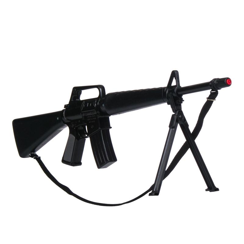 Arma de jucarie tip mitraliera M-118 Command, 72 x 18 cm, 3 ani+