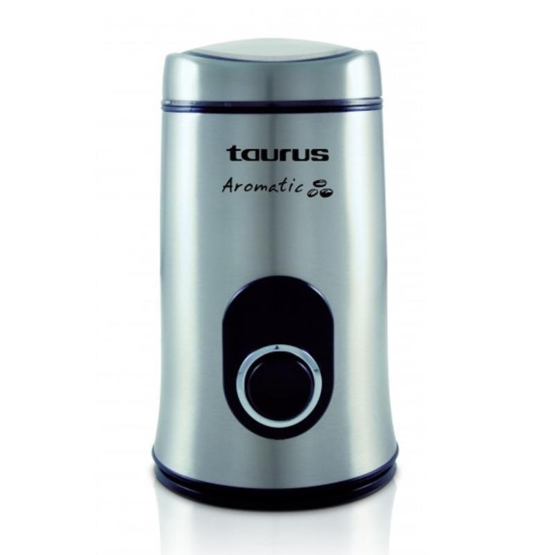 Rasnita de cafea Aromatic Taurus, 150 W, 50 g, buton Puls, Inox 2021 shopu.ro