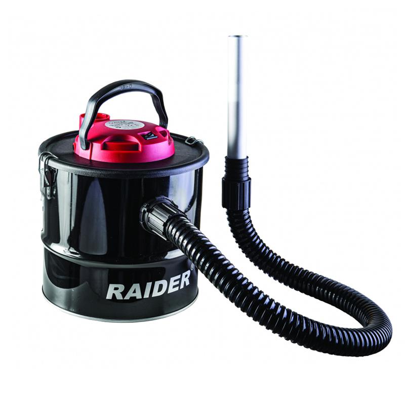 Aspirator pentru cenusa Raider, 600 W, 10 l, 1300 l/min, 15 kPa, Negru shopu.ro
