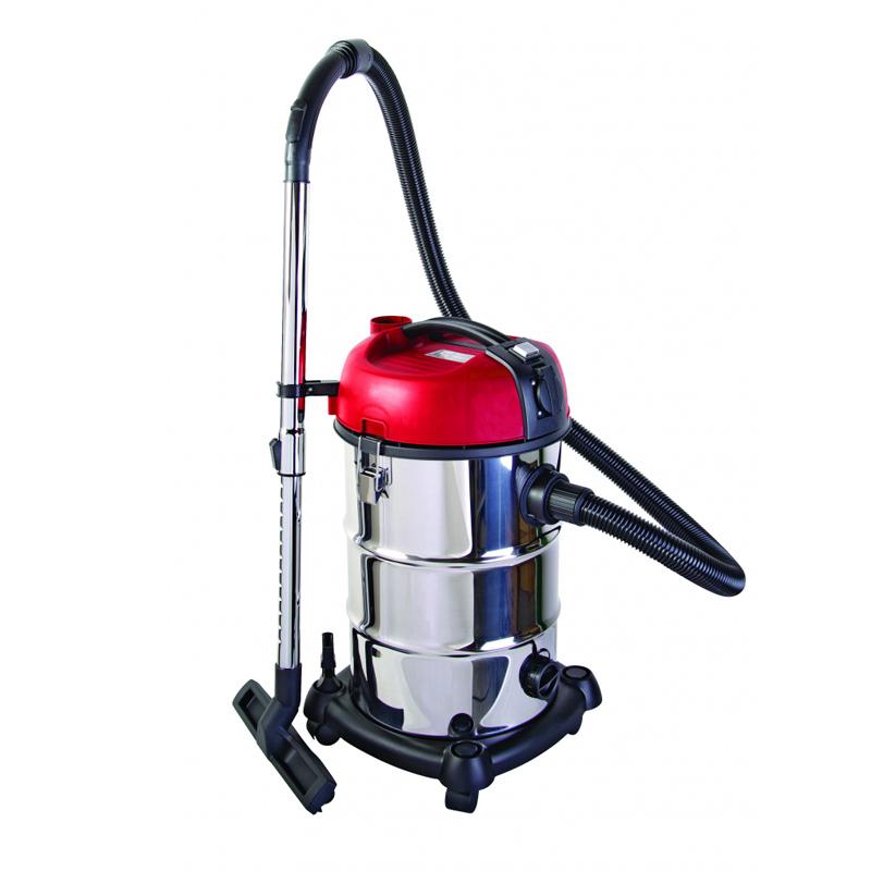 Aspirator industrial umed/uscat Raider, 1300 W, 30 l, 16 kPa, filtru Hepa, corp inox