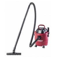 Aspirator umed/uscat cu filtru Raider, 1250 W, 20 l, 4100 l/min, maner ergonomic, Rosu