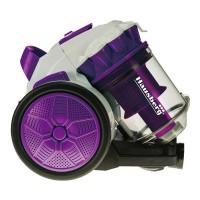Aspirator fara sac Hausberg, 900 W, 3 l, filtru HEPA, tub plastic, Alb/Mov