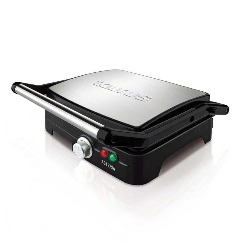 Gratar electric Asteria Taurus, 2200 W, LED, placi grill, termostat, Inox 2021 shopu.ro