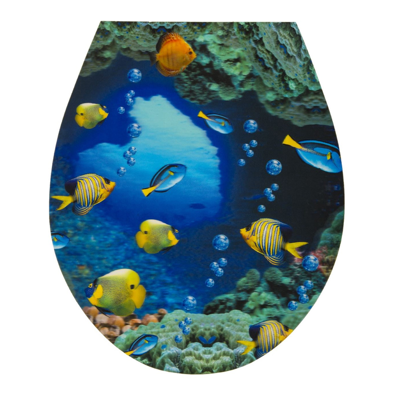 Autocolant pentru toaleta Ocean Fish, 32 x 38 cm
