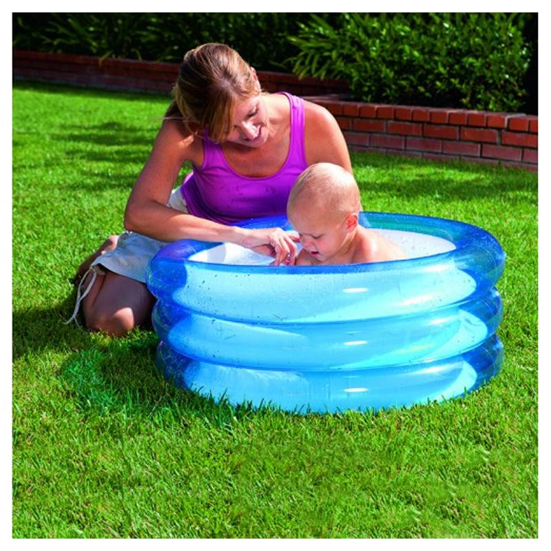 Piscina gonflabila Kiddie Pool Bestway, 3 inele, Albastru 2021 shopu.ro