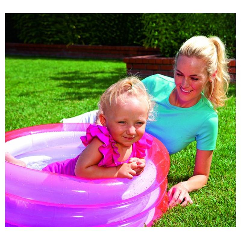 Piscina gonflabila Kiddie Pool Bestway, 3 inele, Roz 2021 shopu.ro