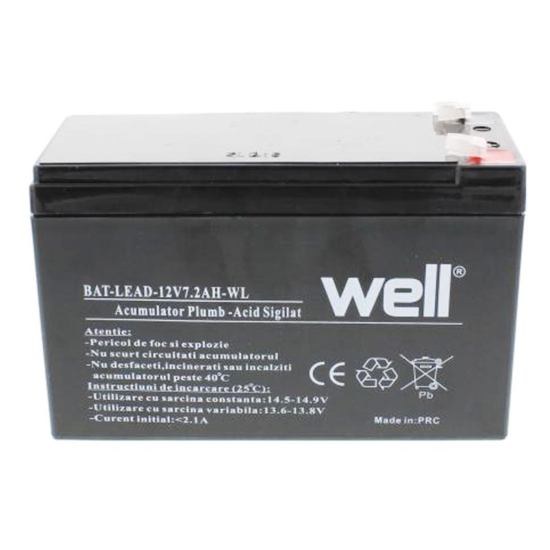 Acumulator plumb acid Well, 12 V, 7.2 Ah 2021 shopu.ro