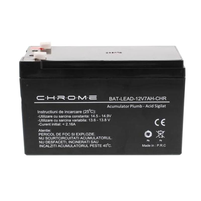Acumulator plumb acid Chrome, 12 V, 7 Ah 2021 shopu.ro