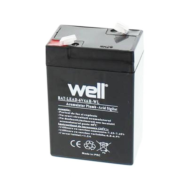 Acumulator plumb acid Well, 6 V, 4 Ah 2021 shopu.ro