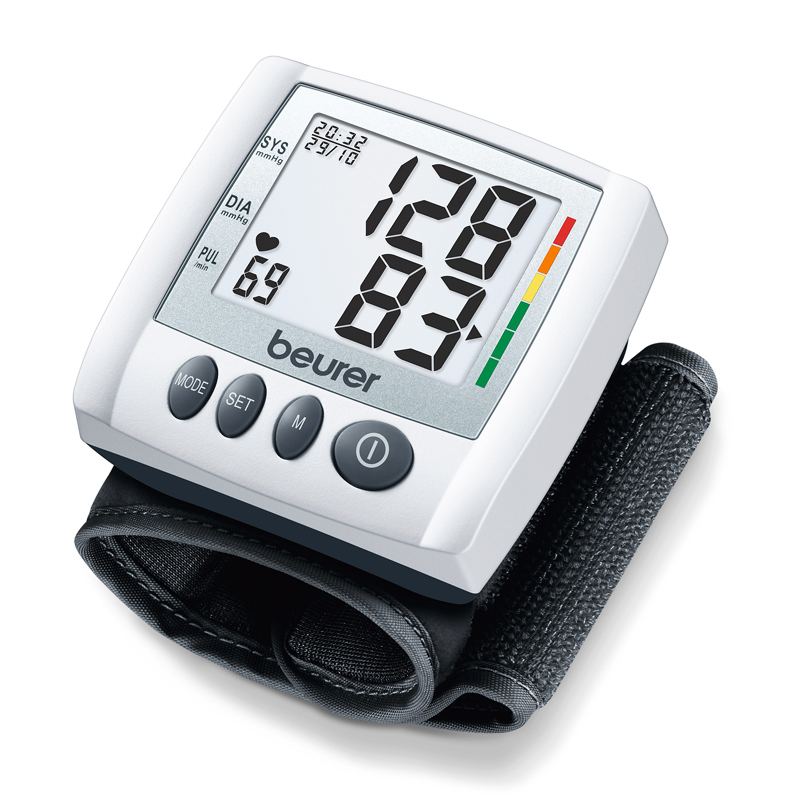Tensiometru de incheietura BC30 Beurer, 3 x 40 memorii 2021 shopu.ro