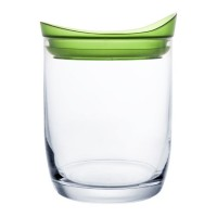 Borcan sticla Bergner, 0.7 L, capac verde