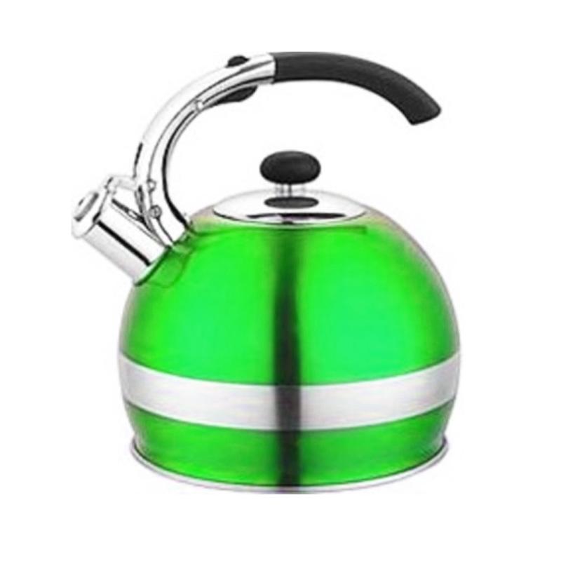 Ceainic inox cu fluier Bohmann, 2.7 l, Verde 2021 shopu.ro