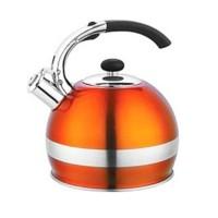 Ceainic inox cu fluier Bohmann, 2.7 l, Portocaliu