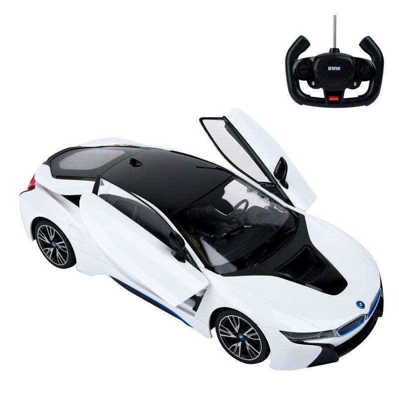 BMW I8 cu telecomanda, 44 x 25.5 x 20 cm, Alb/Negru 2021 shopu.ro