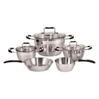 Set oale Barton Steel, 8 piese, manere silicon