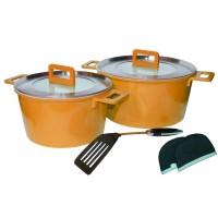 Set oale ceramica Barton Steel, 7 piese, Portocaliu