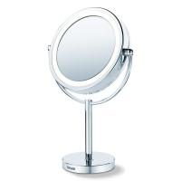 Oglinda cosmetica cu picior Beurer, LED, 17 cm, marire 5x