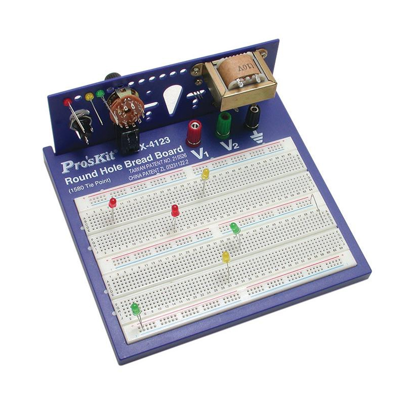 Placa de test Breadboard Pro's Kit, 1580 puncte 2021 shopu.ro