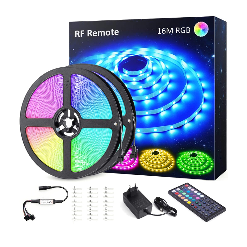 Banda LED RGB Novostela, 480 x LED, 16 m, 8 moduri iluminare, telecomanda shopu.ro