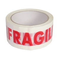 Banda adeziva personalizata, inscriptia fragil