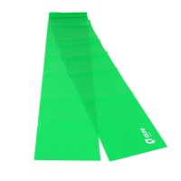 Banda elastica pentru fitness Qizo, 150 x 15 cm, rezistenta medie, Verde
