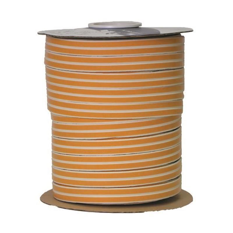 Banda etansare Purfix, 9 m x 6 mm, profil D, Alb/Galben 2021 shopu.ro