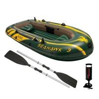 Barca pneumatica 3 persoane Intex SeaHawk 3, 295 x 137 cm
