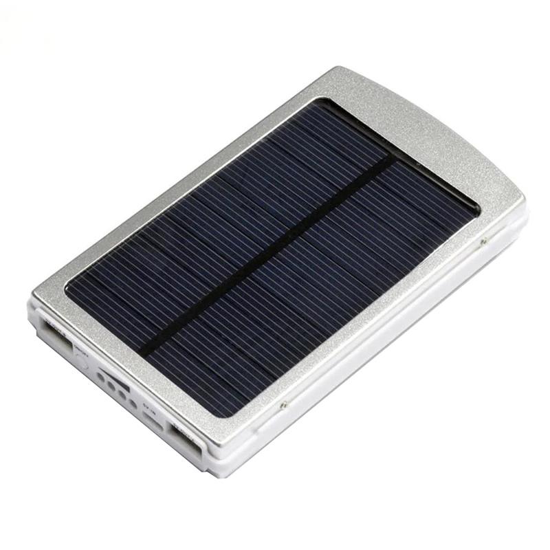 Baterie cu incarcare solara Solar Charger, 2 x USB, 20.000 mAh, 20 x LED, functie lanterna 2021 shopu.ro